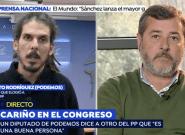 El reencuentro en 'Espejo Público' de los diputados de PP y Podemos tras las palabras que han dado la vuelta a