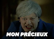 Andy Serkis parodie Theresa May et son