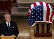Brian Mulroney Delivers Emotional Eulogy For George H.W.