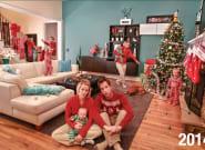 Une photo de Noël avec des enfants, ça ressemble à