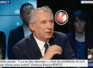 Gilets jaunes: favorable au RIC, Bayrou donne des pistes