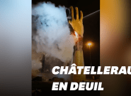 La Main Jaune brûlée à Châtellerault, son sculpteur Francis Guyot exprime sa