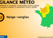 Neige et verglas: Météo France place 8 départements en vigilance