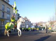 Acte X des gilets jaunes: un cheval en tête de cortège en