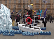 Brexit: des manifestants parodient le débat façon
