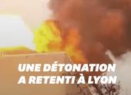 Les images de l'incendie de Lyon