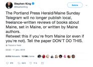 Stephen King sauve la rubrique littéraire d'un journal