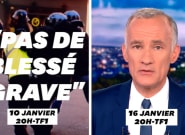 Sur les violences policières pendant les manifs de gilets jaunes, le 20h de TF1 contredit... le 20h de