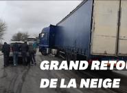 Météo France: La neige a vite bloqué les routes et autres moyens de