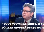 Jean-Luc Mélenchon accuse Anne-Sophie Lapix de tronquer ses propos... avant de faire de