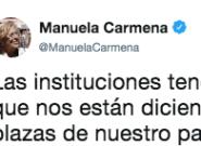 El tuit de Carmena sobre las instituciones que acumula más de 9.000 'likes' en pocas
