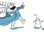 Avec leurs déguisements de la Reine des neiges, un père et son fils séduisent avec leur
