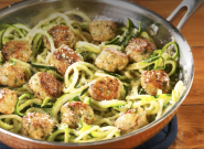 This Easy Meatballs Recipe Uses Chicken And Zucchini