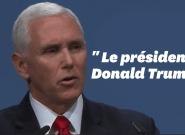 Les bides répétés de Mike Pence quand il invoque Trump en