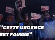 Manifestation contre la déclaration d'état d'urgence de
