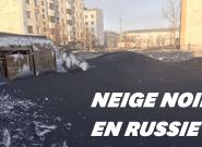 En Russie, la neige est devenue noire à cause de la