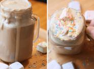On a testé une recette de chocolat chaud avec des guimauves, on n'aurait pas