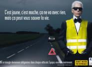 Karl Lagerfeld n'a jamais vraiment porté le gilet jaune qu'il a pourtant aidé à