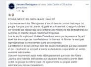 Rodrigues, Drouet et d'autres gilets jaunes condamnent