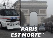 Acte XIX des gilets jaunes: sur les Champs-Élysées, un impressionnant dispositif de