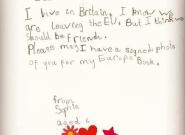 Tusk se pone tierno al responder a una niña inglesa: