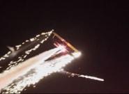 Lasers et feux d'artifices... ce pilote a mis tout le monde