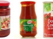 Les sauces tomates les moins sucrées, salées et polluées vendues en