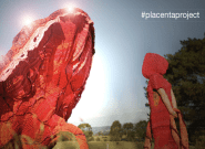 A Giant Knitted Placenta Celebrating Childbirth Is On Display In