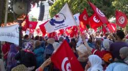 Quelques centaines de manifestants pro Ennahdha sur l'avenue Habib Bourguiba