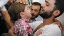 Émouvantes retrouvailles entre un père syrien et son fils, qu'il croyait