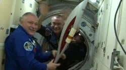 Voyage dans l'espace pour la flamme olympique