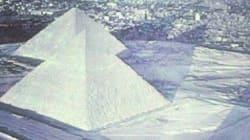 Les Pyramides et le Sphinx de Gizeh sous la neige?