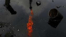 미국 석유회사와 싸우는 검은