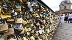 '70만개'의 자물쇠, 세느강 다리를