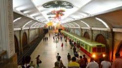 북한의 지하철은 지하 100m를 달린다(사진,