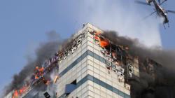 삼성SDS 과천데이터센터에 불...5시간째 진화