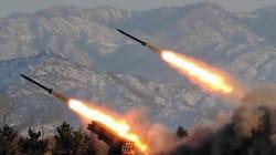 북한군, 해국 함정 향해