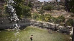Un paysage de Cisjordanie menacé par le mur israélien, déclaré
