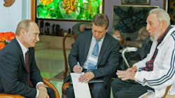 Poutine rencontre Castro à