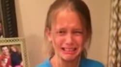 이 소녀가 8살 생일날 통곡을 한