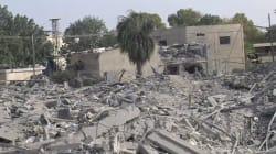 Gaza détruite vue de ciel