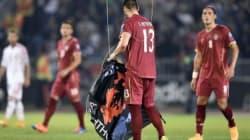 Un drone interrompt le match Serbie-Albanie