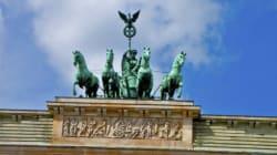 Deutschland als Goldschale - Das Einheitsdenkmal steht auf der