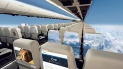Un avion sans fenêtre pourrait voir le jour dans une dizaine