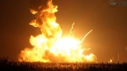 무인 우주화물선 발사 직후 폭발