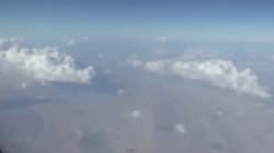 항공기 탑승객이 이란에서 UFO를