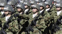 일본 남성, 집단자위권 반대 분신
