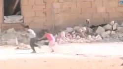 총탄 뚫고 소녀 구해낸 시리아