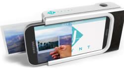Cet étui pour téléphone intelligent permet d'imprimer une photo