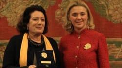 Khedija Cherif reçoit le prix